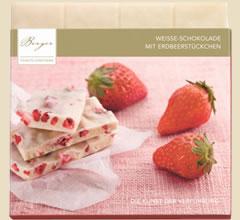Berger Schokolade mit Erdbeerstückchen