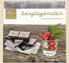 Berger Schokolade Vogelbeerbrand gefüllt, bio