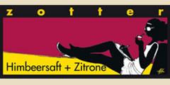 Zotter Himbeersaft + Zitrone.